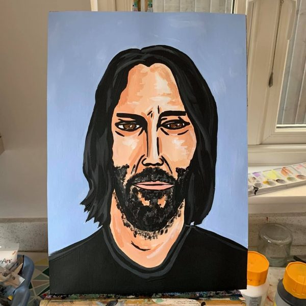 Keanu Reeves Painting